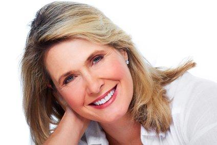 Kobieta pomezoterapii igłowej